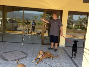 Teaching a dog training class to locals here in Jaco, Costa Rica.