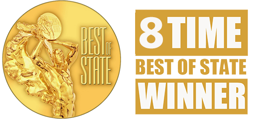 8 Times Best of State Award Winner