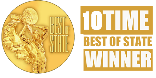 10 times Best-of-State award winner